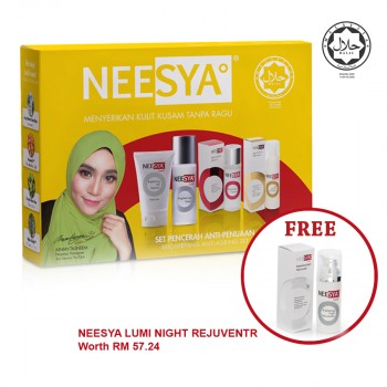 NEESYA BRGT ANTI AGING SET 1S (Gel Cleanser, Toner, Essence, Age Defense Moisturiser)