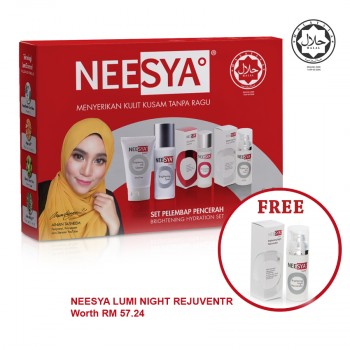 NEESYA BRGT HYDRATION SET 1S (Gel Cleanser, Toner, Essence, Day Cream SPF20)