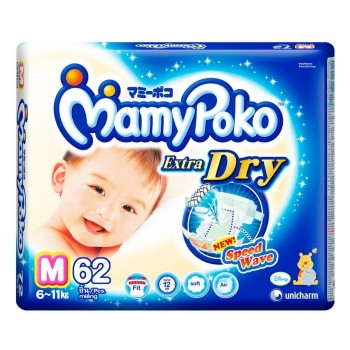 Mamypoko Diaper Extra Dry Pants Boys M 64 pcs**3 Pack Carton