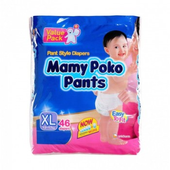Mamypoko Diaper Extra Dry Pants Boys XL46 pcs ** 1 Pack