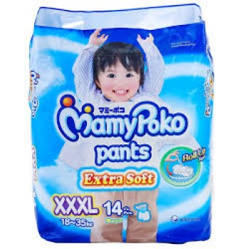 Mamypoko Diaper Extra Dry Pants Boys XXXL14 pcs ** 1 Pack