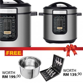 Philips Viva Collection All-In-One Cooker + FREE Cutlery  and Stainless Steel Pot