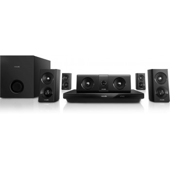 Philips 5.1 3D Blu-ray Home theater Double Bass Sound, Bluetooth® and NFC, 1000W HTB3520
