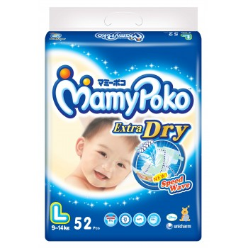 Mamypoko Diaper Extra Dry Pants Boys L 52 pcs**3 Pack Carton