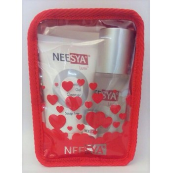 NEESYA CLEANSE & TONE PACK (Gel Cleanser, Toner  and Mini Essence)