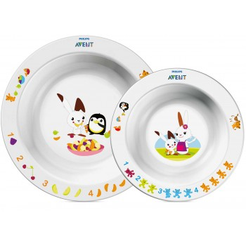 Avent Toddler 2 Bowl Set 6m (SCF708/00) ( SCF708/00 )