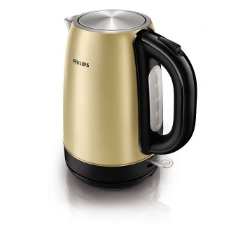 PHILIPS DAILY COLLECTION KETTLE (STAINLESS STEEL, 1.7L, 2200W, CHAMPAGNE)